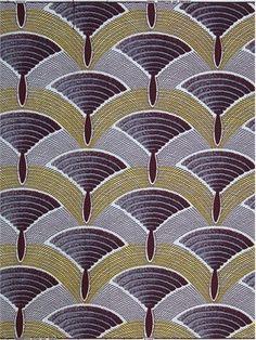 Brocké Wallace pillow or tone on tone for comf Art Deco Fabric, Motif Art Deco, Art Deco Decor, Art Deco Design, Textiles, Textile Patterns, Textile Prints, Print Patterns, African Fabric