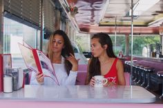 50's diner with my best friend! my pic! instagram: hannah_meloche pinterest: hannahmeloche