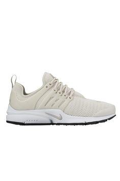 Consider yourself a true sneakerhead? Stay ahead of the athleisure shoe game with theNike Air Presto in Light Bone, Black and White.Boasting a uniquely constructed multi-layered Flyknit upper complete with a standout colourway, these kicks offer premium comfort and next level style. Team with a sleek pair of tights and an oversized tee for an effortless look on your next rest day. We love the P.E Nation End Zone Tee in Black.