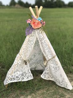 Tiny Teepee Newborn Photography prop. Photo prop for newborn girl and could be used as doll teepee
