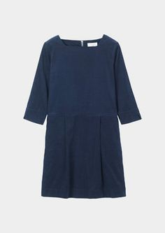FINE CORDUROY DRESS | TOAST (also available in brick-rose)