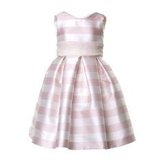 b06865f9920f La Stupenderia - Abito Bambina Bianco E Rosa Elegante abito satinato a  strisce firmato La Stupenderia