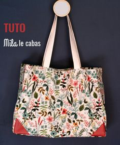 Patchwork Diy Tuto Sac 56 Ideas For 2019 Coin Couture, Couture Bags, Couture Sewing, Diy Tote Bag, Reusable Tote Bags, Diy Bags Purses, Tahiti, Crafts, Entryway Decor