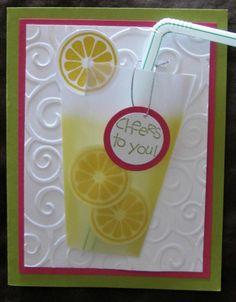 Stampin Up Card Kit - Summer Lemonade Card