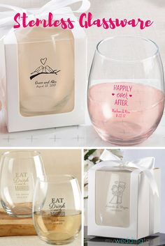 Take a drink on the wild side with fabulously fun stemless wine glasses!