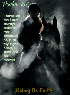 Psalm 16:8 ~ I have set the Lord always before me: because he is at my right hand, I shall not be moved.