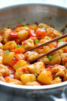 Le Poulet à l'ananas - Recettes - Recettes simples et géniales! - Ma Fourchette - Délicieuses recettes de cuisine, astuces culinaires et plus encore!