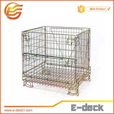 Distribution Galvanized high quality Demountable metal Wire Mesh Container Fatory supply