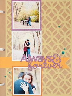 Learn to create the Always and Forever Mini Album. A perfect way to display engagement photos! #CTMH