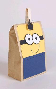 Minion Verpackung Kindergeburtstag -Gastgeschenk