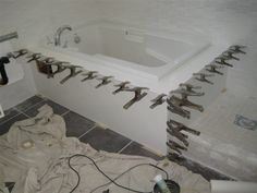 Glacier White Tub Deck - The Fabricator Network - Forum - Fabrication, Installation, and Repairs - Solid Surface White Polish, Shower Surround, Shower Panels, Corian, Solid Surface, Bath Mat, Tub, Bathrooms, Deck