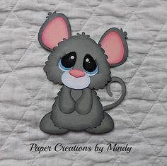 Tocg Bobble Mouse Premade Paper Piecing for Scrapbooking Page Album Border | eBay