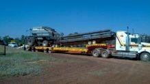 Hewes Oversize Transport & Schwertransport Australien Header und Comb Trailer Transport