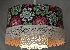 Hanging Pendant Lace Light Fixture Plug In Modern by mysecretlite