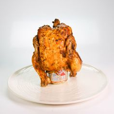 Beer Can Chicken on the grill or in the oven. Michael Symon