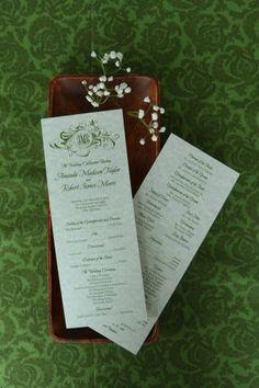 Wedding Program (Amanda)--$110 for 150