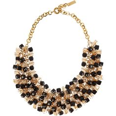Etro Gold-plated, bead and Swarovski crystal necklace (£410) ❤ liked on Polyvore featuring jewelry, necklaces, accessories, collares, colares, gold, gold plated necklace, champagne necklace, bead cluster necklace and beaded collar necklace