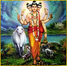 "DATTATREYA ॐ ""Dattatreya is at once the incarnation of Vishnu, Shiva and Brahma."""
