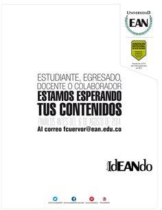 Te gusta el arte de escribir, innova con un artículo para la Revista Ideando. Innovative Products, Journals, Universe, Studio, News, Art