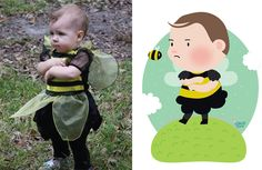 I Take Children's Photos From The Internet And Turn Them Into Playful Illustrations