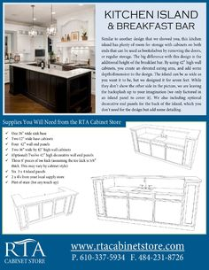 Building A Kitchen Island With Breakfast Bar Using Rta Kitchen Cabinets  (step By