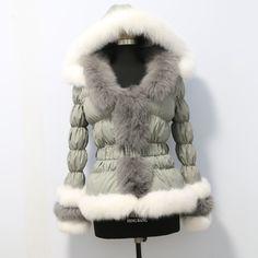 Fur Puffer Coat, Fur Coat, Winter Jackets, Fashion, Winter Coats, Moda, Winter Vest Outfits, Fashion Styles, Fashion Illustrations