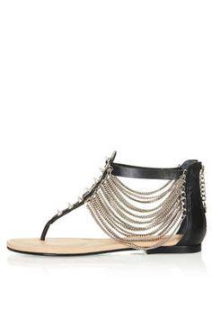 Black Cat Flat Sandals By CJG