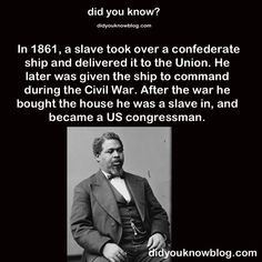 "thehotgirlproject: ""queendecuisine: "" 1863-project: "" tigertwo1515: "" did-you-kno: "" Source "" Damn "" OKAY, LET'S TALK ABOUT ROBERT SMALLS (BECAUSE HE HAS A NAME, THANK YOU VERY MUCH). ANYWAY. Robert..."