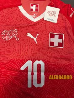 1d75367c0 Switzerland Jersey Soccer WORLD CUP 2018 HOME Red SHIRT ADULT SIZES Football