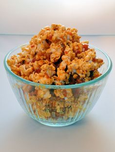 Salted Caramel and Bacon Popcorn - Take three of my favorite foods and combine them together for this crave-able snack. #popcorn  www.SavoryExperiments.com