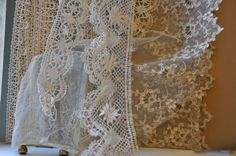 Beautiful antique French lace from Lily Pond, Geelong