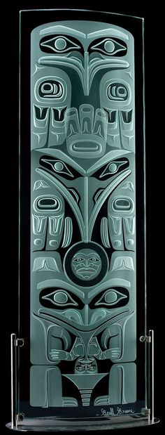 Haida Lineage Totem - 6ft Geoff Greene Haida Nation Haida Kunst, Haida Art, Indian Artwork, Native American Symbols, Inuit Art, Native Design, Coastal Art, Indigenous Art, Canadian Artists
