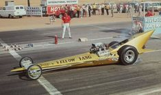 Vintage Drag Racing - Dragster - Ed Roth's Yellow Fang Funny Car Drag Racing, Nhra Drag Racing, Funny Cars, Auto Racing, Volkswagen, Top Fuel Dragster, Old Race Cars, Vintage Race Car, Big Daddy