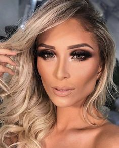 Amazing Trends Wedding Makeup 2018 Ideas To achieve the flawless radiance that every bride wants, you need to have great makeup. The trend right now going […] Make Up Looks, Professionelles Make Up, Fresh Wedding Makeup, Wedding Makeup Looks, Bridal Makeup, Glam Makeup, Love Makeup, Hair Makeup, Make Up Kurs