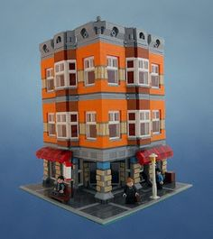 lego modular corner | Here are two very nice modular building built by Flickr user Myko82.