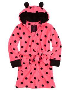 Polka Dot Fleece Robe | Girls Pajamas  Robes Pjs, Bras  Panties | Shop Justice