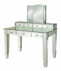 Catherine Mirrored Vanity Desk
