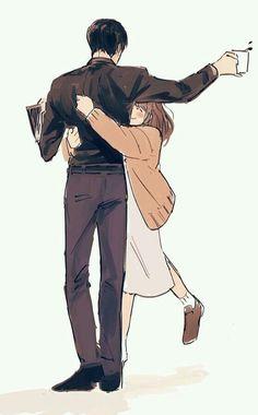 Anime Couples Drawings, Anime Couples Manga, Anime Guys, Anime Couples Hugging, Anime Couples Sleeping, Anime Couples Cuddling, Romantic Anime Couples, Romantic Manga, Manga Couple