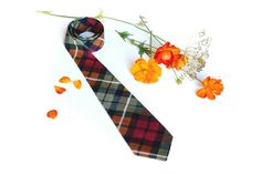Tie for Boys Red Plaid. Baby tie gingham tie  by TheBestBoysTies, $12.70