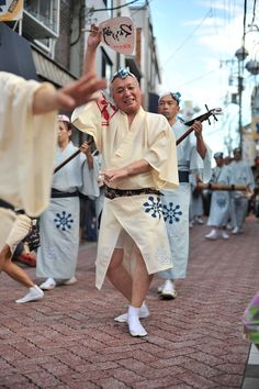 Male comic dancer, Hisagoren dance troupe, Koenji Awodori, Tokyo