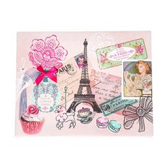 <P>You'll feel like you're inthe cityof Romance when you gaze at this Paris wall canvas. The square canvas is decorated with pictures of the Eiffel Tower, Metro sign, Arc de Triomphe and other classic Paris sights. Names of famous landmarks are listed along the left side, while silver glitter dots add a touch of sparkle. </P><UL><LI>Dimensions: 25cm x 25cm</LI><LI>Canvas/Wood</LI></UL>