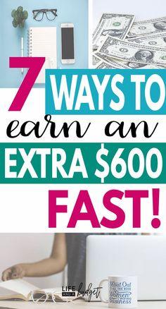 7 ways to earn extra Money ! Make Money Fast, Make Money Blogging, Money Tips, Make Money From Home, Money Saving Tips, Make Money Online, Money Budget, Money Hacks, Making Extra Cash