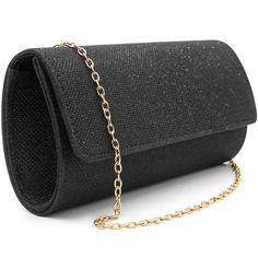 Elegant black clutch Clutch Purse, Crossbody Bag, Black Clutch, Casual Bags, Evening Bags, Leather Handbags, Clutches, Shoulder Bags, Glitter