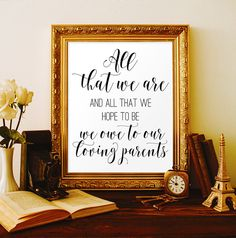All that we are Thank you wedding Parent by ViolaMirabilisPrints