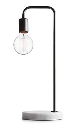 Illuminate your living space with this on-trend table lamp. Designed with a real marble base and an elegant stem, this simple lamp will add retro flair to your indoors. Living Spaces, Marble, Table Lamp, Indoor, Rooms, Simple, Design, Home Decor, Interior