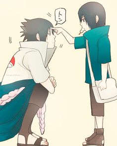 Mini Itachi and Sasuke. Role referce