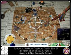 Rueda de la Medicina de Cristales en Curación ritual . 23 de febrero de 2014 con Ana K Yepes G. Guardiana de Nodo Casa Cristal Saraswati.