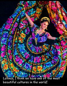 Beautiful and colotful Mexican dress