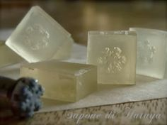 Snowflake, handmade soap