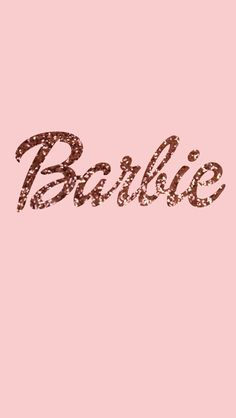Barbie Wallpaper Glitters Rose Gold Phone Sonicka Glammy